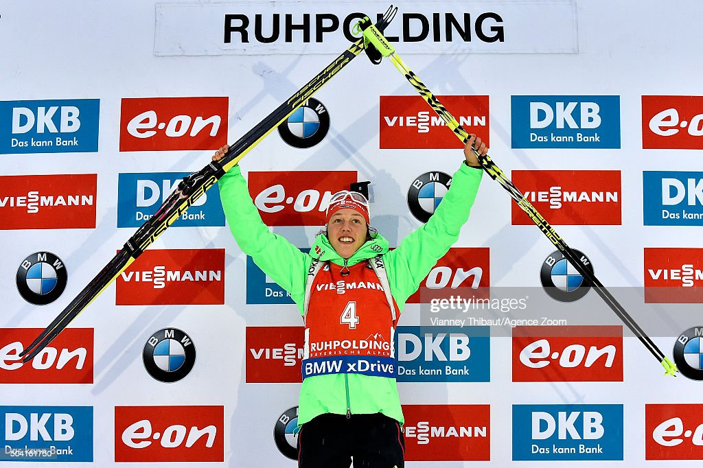 <a gi-track='captionPersonalityLinkClicked' href=/galleries/search?phrase=Laura+Dahlmeier&family=editorial&specificpeople=10284324 ng-click='$event.stopPropagation()'>Laura Dahlmeier</a> of Germany takes 1st place during the IBU Biathlon World Cup Men's and Women's Pursuit on January 9, 2016 in Ruhpolding, Germany.
