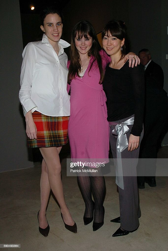 Laura Daly Brienne Walsh and Stephanie Schollenberger attend Opening of Robert Rauschenberg's Scenarios at PaceWildenstein on January 13 2005 in New...