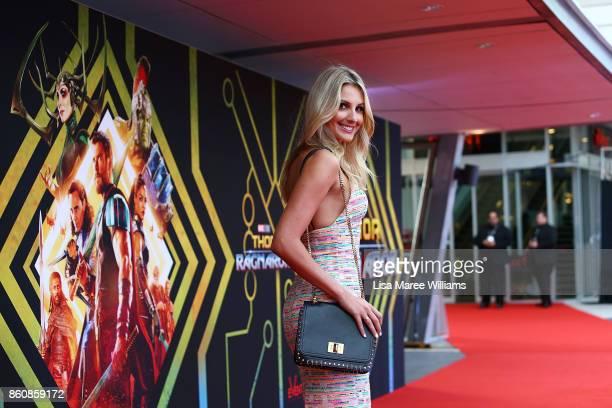 Laura Dandovic arrives for the Australian Premiere of Thor Ragnarok on October 13 2017 in Gold Coast Australia