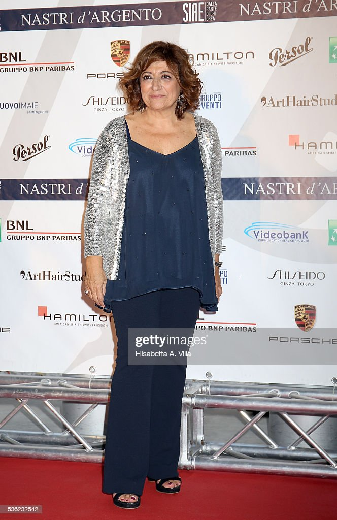 Laura Delli Colli attends Nastri D'Argento 2016 Award Nominations at Maxxi on May 31, 2016 in Rome, Italy.