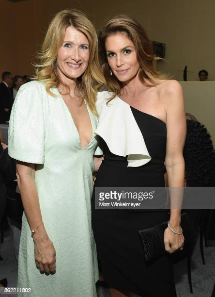 Laura Dern and Cindy Crawford attend ELLE's 24th Annual Women in Hollywood Celebration presented by L'Oreal Paris Real Is Rare Real Is A Diamond and...
