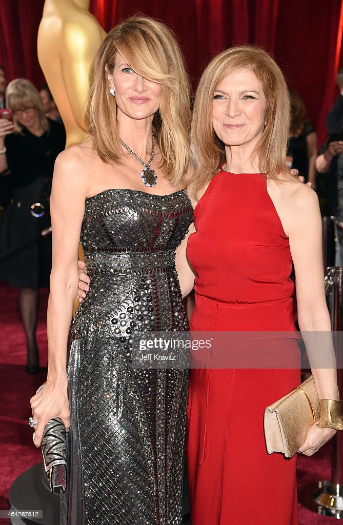 Laura Dern and Dawn Hudson arrive at Hollywood Highland Center on February 22 2015 in Hollywood California