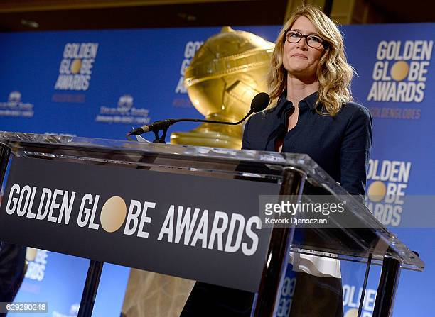 Laura Dern announces nominations for the 74th Annual Golden Globe Awards at The Beverly Hilton Hotel on December 12 2016 in Beverly Hills California...