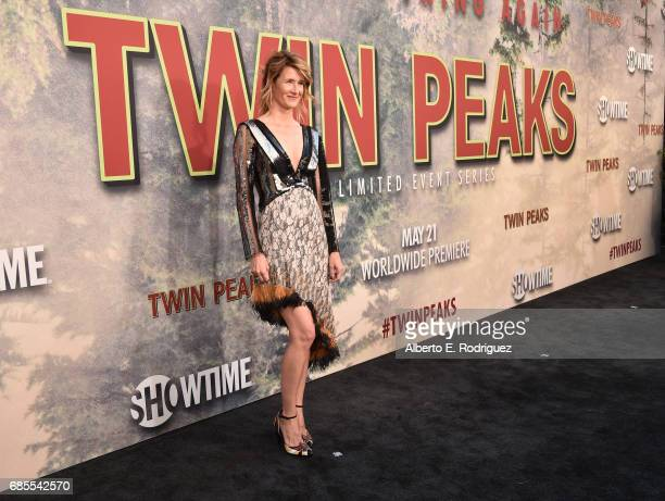 Laura Dern attends the premiere of Showtime's 'Twin Peaks' at The Theatre at Ace Hotel on May 19 2017 in Los Angeles California