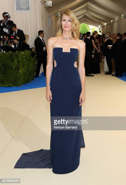 Laura Dern attends the 'Rei Kawakubo/Comme des Garcons Art Of The InBetween' Costume Institute Gala at Metropolitan Museum of Art on May 1 2017 in...