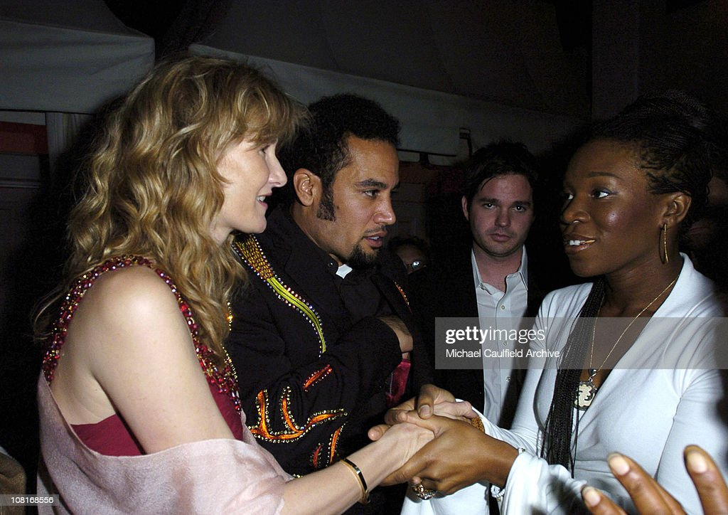 Laura Dern, Ben Harper and India.Arie during EMI Post-GRAMMY Party - Inside at Polo Lounge at the Beverly Hills Hotel in Los Angeles, California, United States.