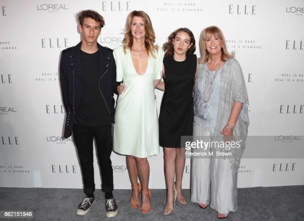 Laura Dern Ellery Harper Jaya Harper and Diane Ladd attend ELLE's 24th Annual Women in Hollywood Celebration at Four Seasons Hotel Los Angeles at...