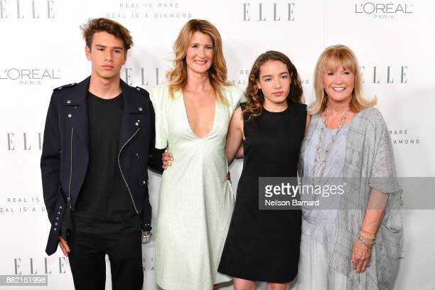 Laura Dern Ellery Harper Jaya Harper and Diane Ladd attend ELLE's 24th Annual Women in Hollywood Celebration presented by L'Oreal Paris Real Is Rare...
