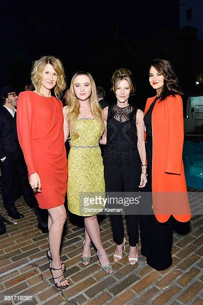 Laura Dern Kathryn Newton Robbie Myers and Shailene Woodley attend ELLE's Annual Women In Television Celebration 2017 at Chateau Marmont on January...