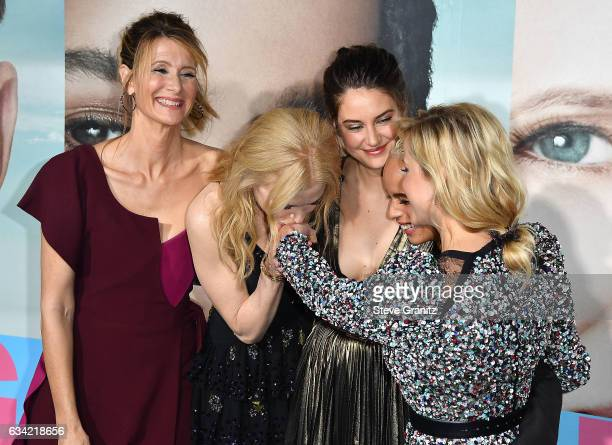 Laura Dern Nicole Kidman Shailene Woodley Zoe Kravitz Reese Witherspoon arrives at the Premiere Of HBO's 'Big Little Lies' at TCL Chinese Theatre on...