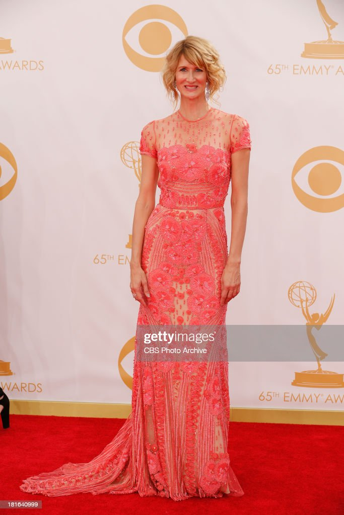 <a gi-track='captionPersonalityLinkClicked' href=/galleries/search?phrase=Laura+Dern&family=editorial&specificpeople=204203 ng-click='$event.stopPropagation()'>Laura Dern</a> on the Red Carpet for the 65th Primetime Emmy Awards, which will be broadcast live across the country 8:00-11:00 PM ET/ 5:00-8:00 PM PT from NOKIA Theater L.A. LIVE in Los Angeles, Calif., on Sunday, Sept. 22 on the CBS Television Network.