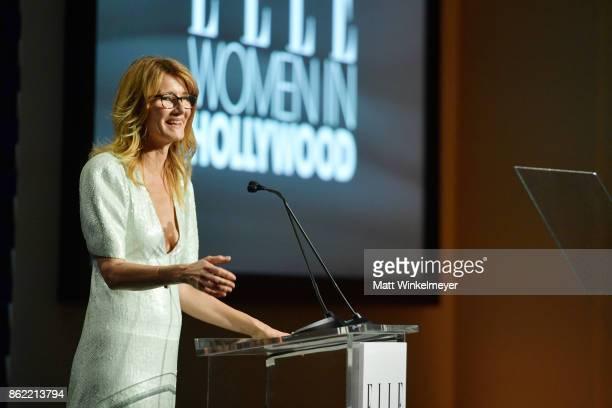 Laura Dern onstage ELLE's 24th Annual Women in Hollywood Celebration presented by L'Oreal Paris Real Is Rare Real Is A Diamond and CALVIN KLEIN at...