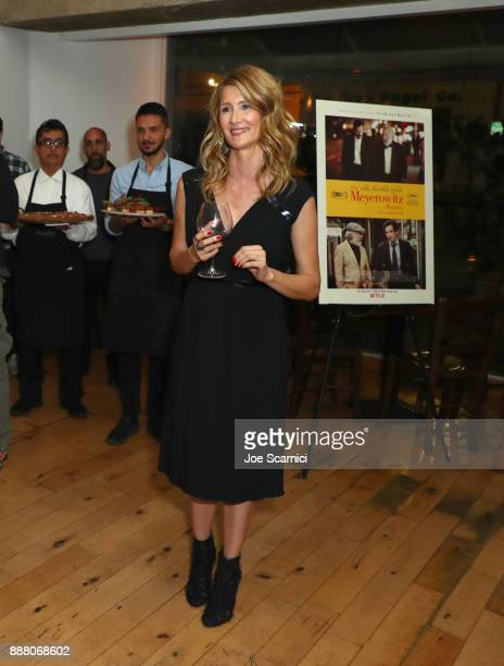 Laura Dern speaks during The Meyerowitz Stories reception at Angelini Osteria on December 7 2017 in Los Angeles California
