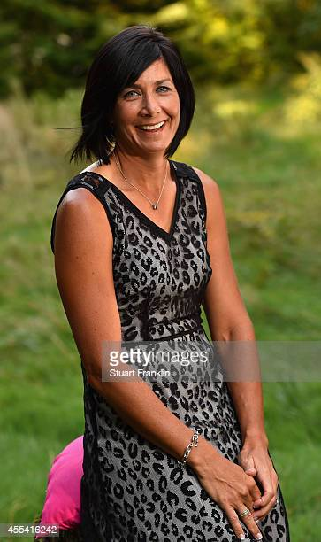 Laura Diaz of USA poses for a photograph at the Rolex Awards cermony after the third round of The Evian Championship at the Evian Resort Golf Club on...