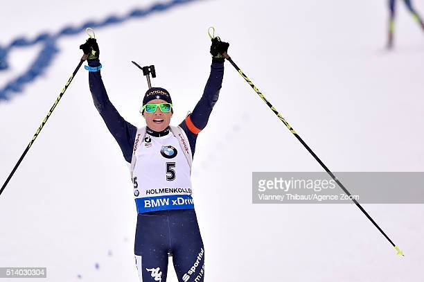Laura Dorothea Wierer of Italy wins the silver medal during the IBU Biathlon World Championships Men's and Women's Pursuit on March 6 2016 in Oslo...
