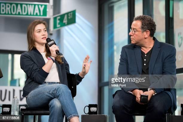Laura Dreyfuss and Michael Greif visit Build Studios to discuss 'Dear Evan Hansen' at Build Studio on April 27 2017 in New York City