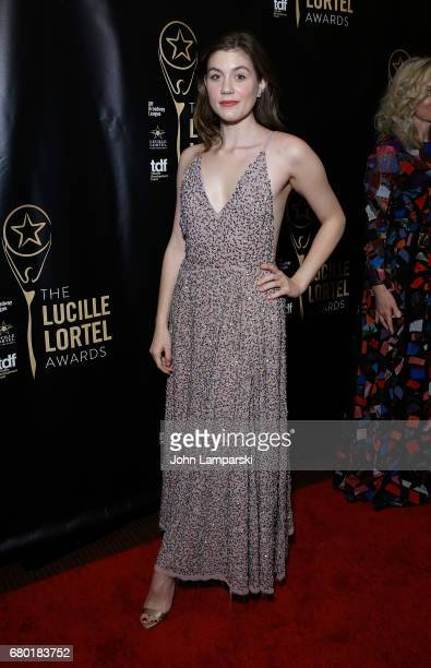 Laura Dreyfuss attends 32nd Annual Lucille Lortle Awards at NYU Skirball Center on May 7 2017 in New York City