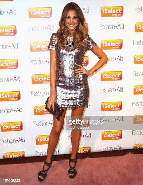 Laura Dundovic arrives at iSelect Fashion Aid at Crown Palladium on September 15 2012 in Melbourne Australia