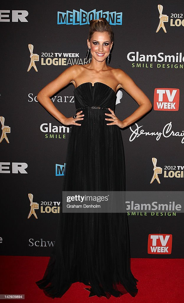 Laura Dundovic arrives at the 2012 Logie Awards at the Crown Palladium on April 15, 2012 in Melbourne, Australia.