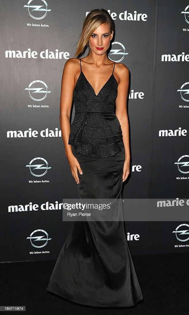 Laura Dundovic arrives at the 2013 Prix de Marie Claire Awards at the Star on March 27, 2013 in Sydney, Australia.