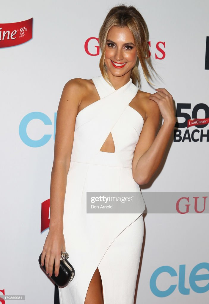 Laura Dundovic arrives at the CLEO Bachelor of the Year Awards at the Beresford Hotel on June 12, 2013 in Sydney, Australia.