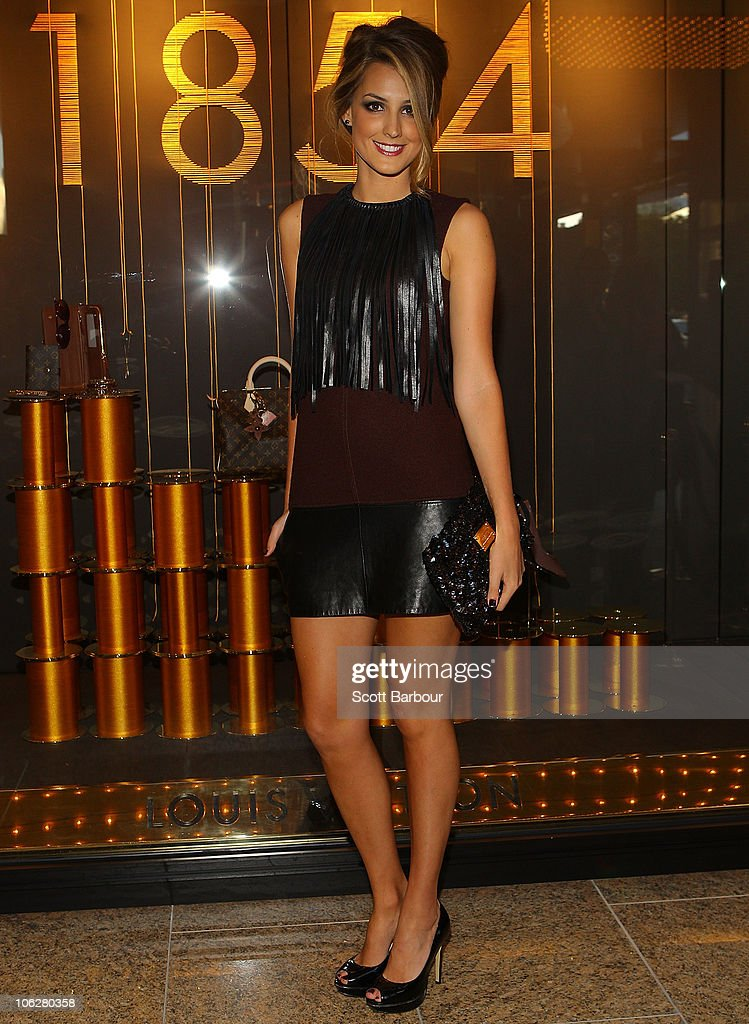 Laura Dundovic attends the Louis Vuitton Crown Melbourne store opening on October 28, 2010 in Melbourne, Australia.