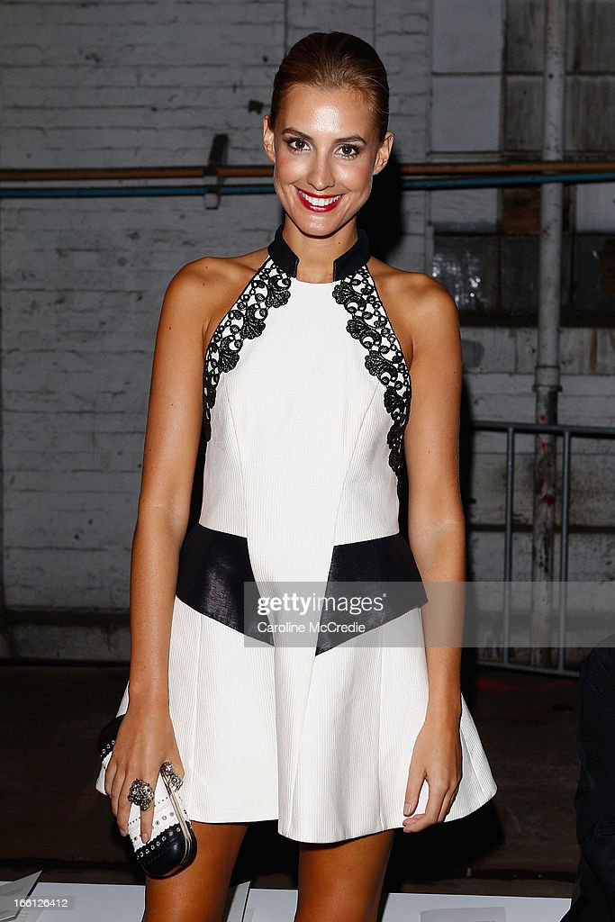 Laura Dundovic attends the Manning Cartell show during Mercedes-Benz Fashion Week Australia Spring/Summer 2013/14 at The Shed, Carriageworks on April 9, 2013 in Sydney, Australia.
