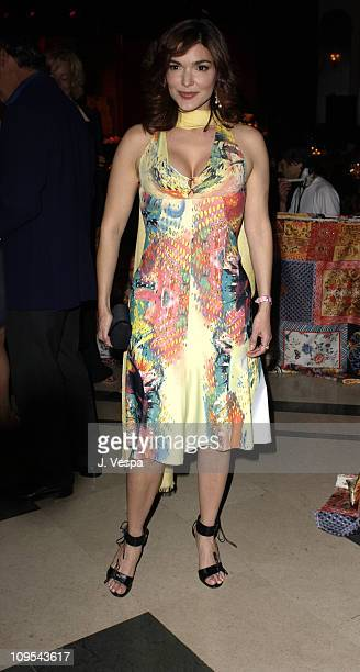 Laura Elena Harring during 2003 Cannes Film Festival Roberto Cavalli Fashion Show Dinner at Palm Beach in Cannes France
