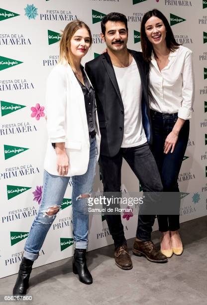 Laura Escanes Antonio Velazquez and Dafne Fernandez during 'El Corte Ingles' Spring Photocall in Madrid on March 21 2017 in Madrid Spain