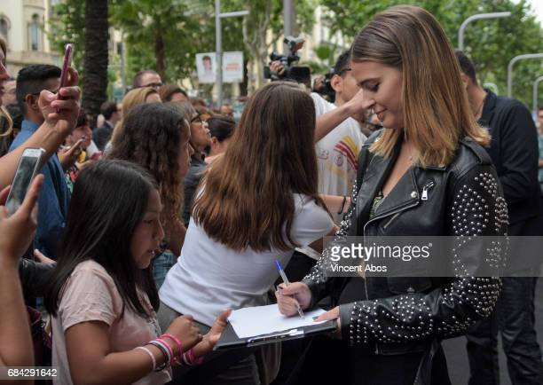 Laura Escanes seen arriving at the new Sarkany Boutique opening on May 17 2017 in Barcelona Spain