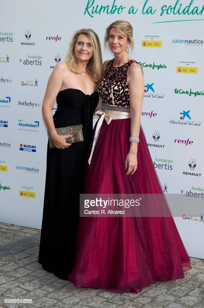 Laura Falco Lara and Marta Cardona attend the 'Get Best Give Most' charity party at the French Embassy on June 22 2017 in Madrid Spain