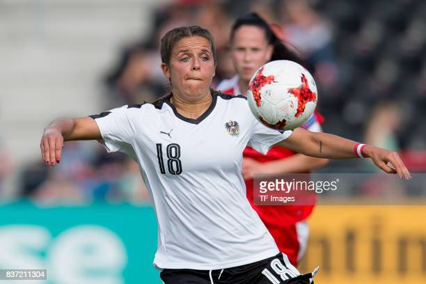 Laura Feiersinger of Austria controls the ball during the Group C match between Austria and Switzerland during the UEFA Women's Euro 2017 at Stadion...