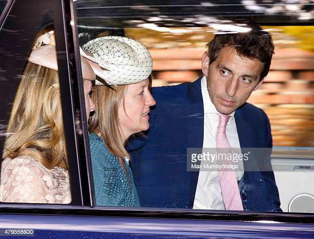 Laura Fellowes attends the christening of Princess Charlotte of Cambridge at the church of St Mary Magdalene on the Sandringham Estate on July 5 2015...