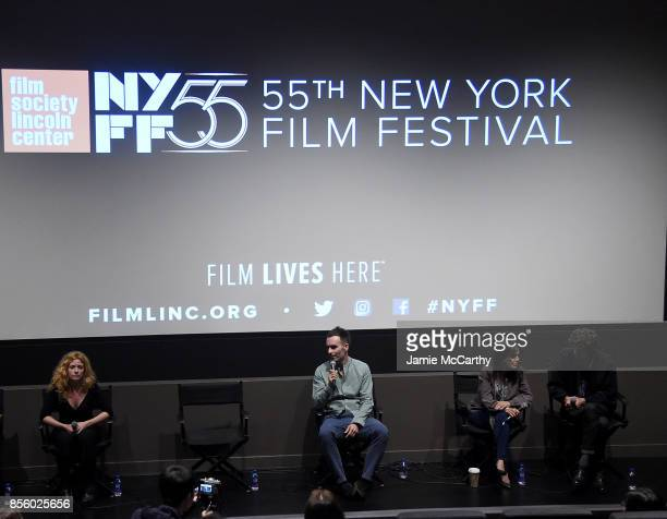 Laura FerresXavier Marrades and Lucien Monot attend the 55th New York Film Festival Shorts Program 4 Documentary at Francesca Beale Theater on...