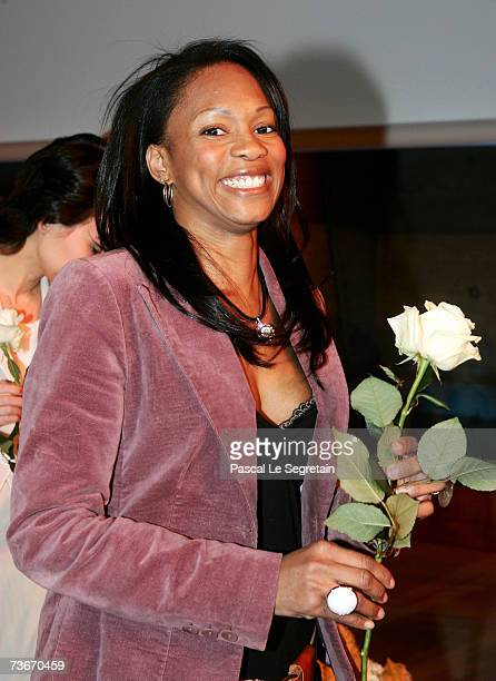 Laura Flessel attends The First Global Summit On Cervical Cancer on March 22 2007 at the UNESCO House in Paris France