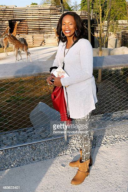 Laura Flessel attends the Private visit of the Zoological Park of Paris due to reopen on April 12 On April 9 2014 in Paris France