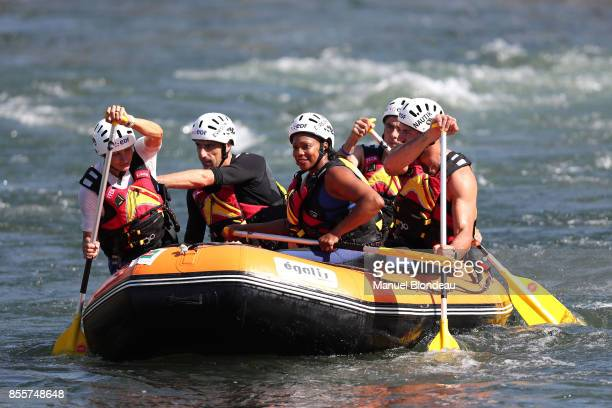 Laura Flessel French Minister of Sports Tony Estanguet French Olympic medalist and member of the CIO during the 2017 ICF Canoe Slalom and Wildwater...