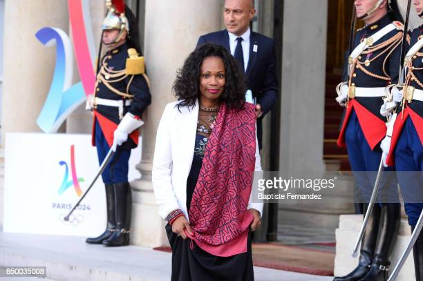 Laura Flessel French Sport Minister during the reception of the CIO by the French President at Elysee Palais on September 15 2017 in Paris France