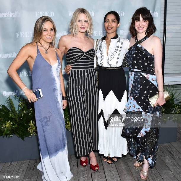 Laura FrererSchmidt Jennifer Morrison Freida Pinto and Amy Keller Laird attend Women's Health and FEED's 6th Annual Party Under the Stars at...