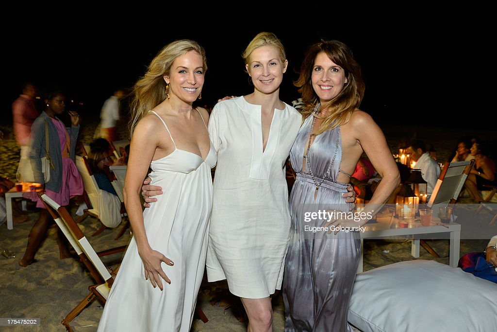Laura Frerer-Schmidt, <a gi-track='captionPersonalityLinkClicked' href=/galleries/search?phrase=Kelly+Rutherford&family=editorial&specificpeople=217987 ng-click='$event.stopPropagation()'>Kelly Rutherford</a> and Michele Promaulayko attend Women's Health Hamptons 'Party Under the Stars' for RUN10 FEED10 at Bridgehampton Tennis and Surf Club on August 3, 2013 in Bridgehampton, New York.