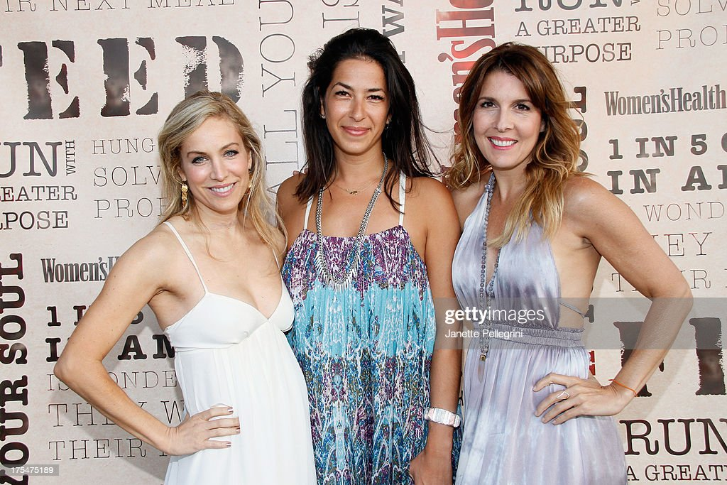 Laura Frerer-Schmidt, Rebecca Minkoff and Michele Promaulayko attend Women's Health Hamptons 'Party Under the Stars' for RUN10 FEED10 at Bridgehampton Tennis and Surf Club on August 3, 2013 in Bridgehampton, New York.