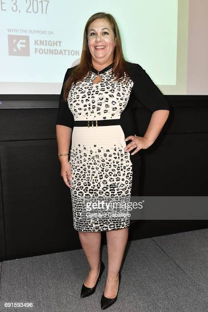 Laura Ganoza partner and litigation lawyer at Foley Lardner attends at the Miami Fashion Week Master Classes at Miami Dade College on June 2 2017 in...