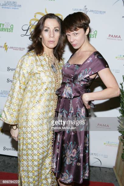 Laura Giannoni and Amanda Sagefka attend Grand Opening of La Pomme at 37 W 26th St on September 17 2009 in New York City