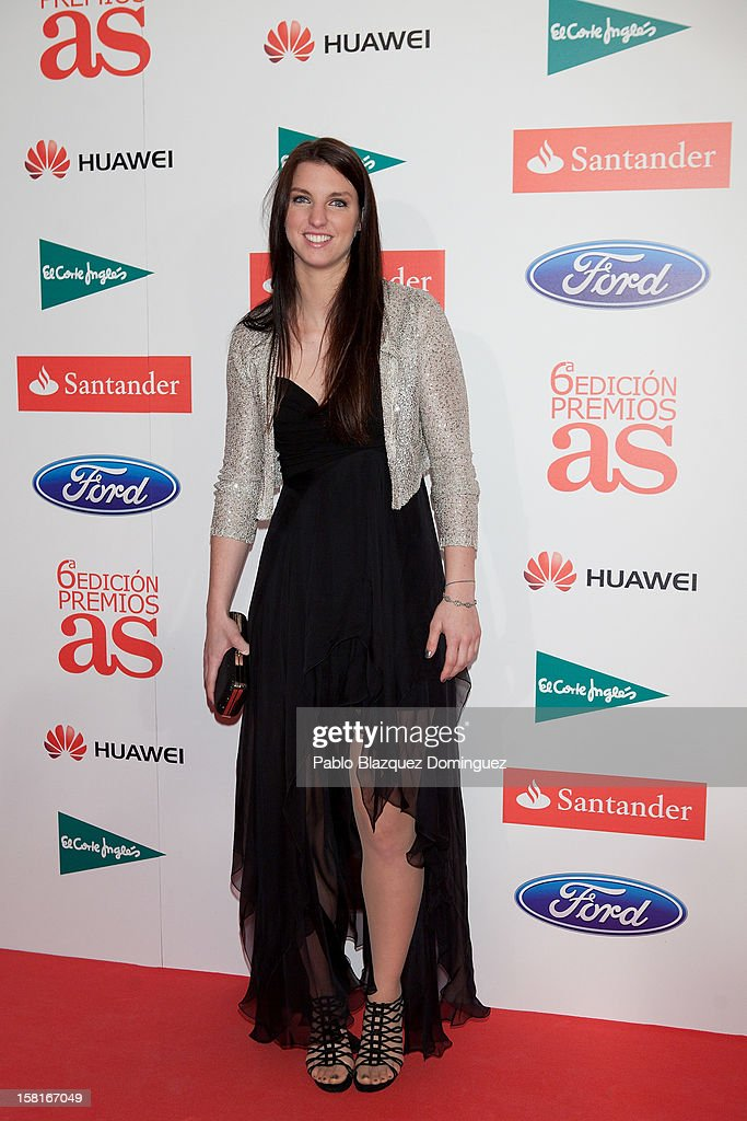 Laura Gil attends 'As Del Deporte' Awards 2012 at The Westin Palace Hotel on December 10, 2012 in Madrid, Spain.