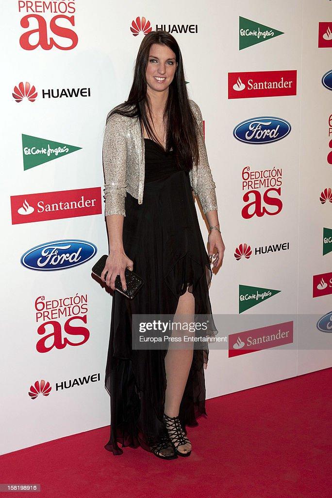 Laura Gil attends As Del Deporte' Awards 2012 on December 10, 2012 in Madrid, Spain.