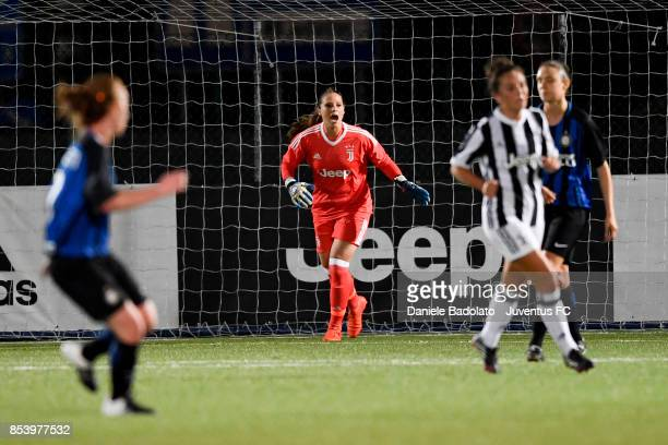 Laura Giuliani during a friendly match between Juventus Women and FC Internazionale Women on September 22 2017 in Vinovo Italy