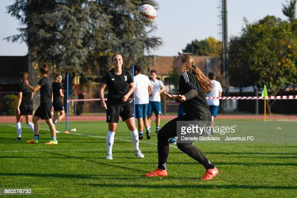 Laura Giuliani during a Juventus Women training session on October 12 2017 in Turin Italy