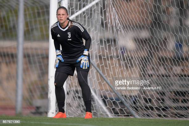 Laura Giuliani during a Juventus Women training session on October 5 2017 in Turin Italy