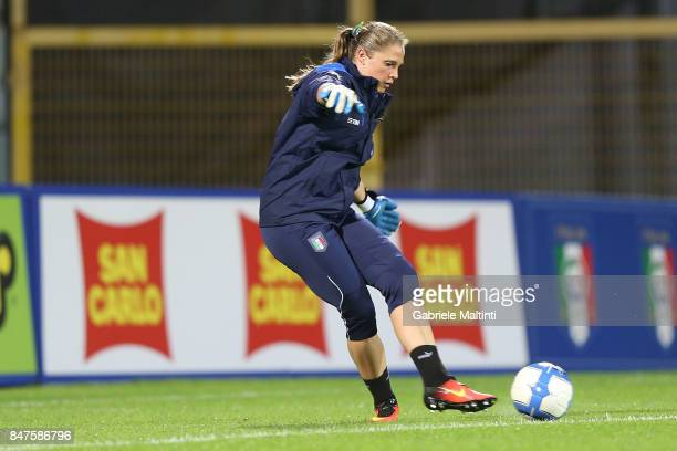 Laura Giuliani of Italy in action during the 2019 FIFA Women's World Cup Qualifier between Italy Women and Moldova Women at Stadio Alberto Picco on...