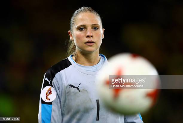 Laura Giuliani of Italy looks on during the UEFA Women's Euro 2017 Group B match between Sweden and Italy at Stadion De Vijverberg on July 25 2017 in...